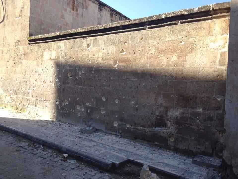 Väggen till stadens största moské, Ulu camii.